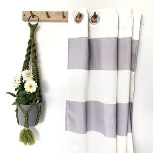 Set of 2 Striped Curtain Panels